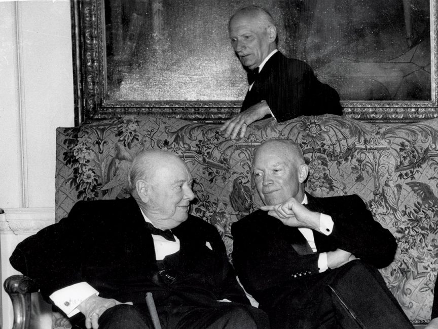 Winston Churchill and Dwight D Eisenhower