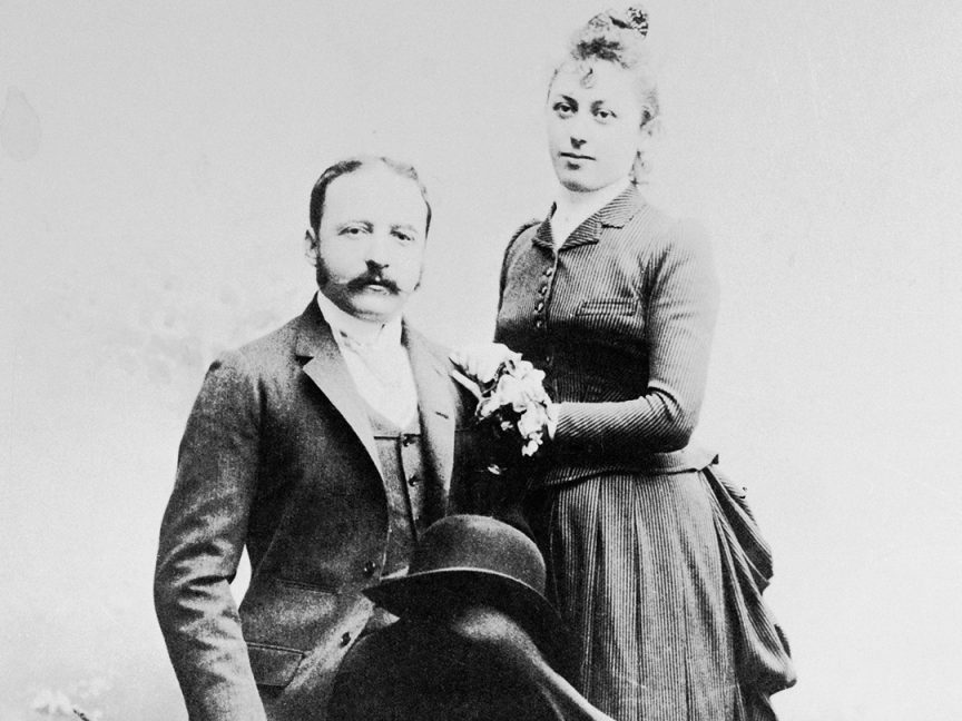 César Ritz with his wife, Marie-Louise