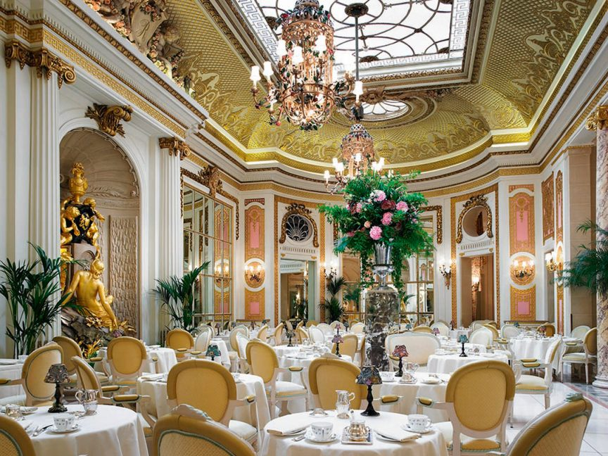the opulent Palm Court